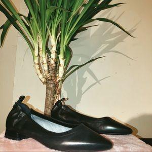 AQUATALIA Black Patent Leather Flats
